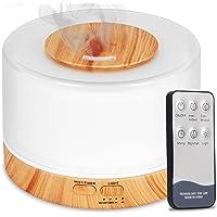 Difusor De Aromas, Umidificador De Ar Ultra-Sônico 500Ml, Difusor De Óleo Essencial, Abajur Led, Lâmpada Colorida Com…