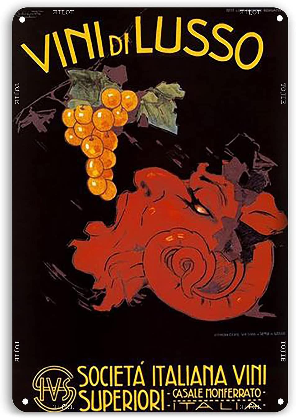 VINTAGE METAL SIGNS,metal art wall decor for living room,metal art,Italian Wine Poster Vintage Poster,Cotton Canvas,Food Decoration,Restaurant Wall Decor,12 x16 Inches Metal Signs,