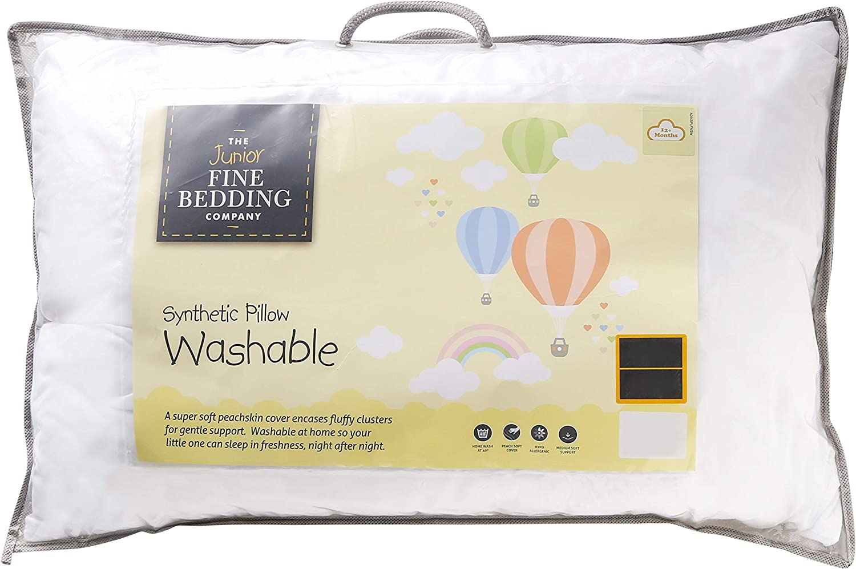 2 x Bamboo Memory Foam Cot Bed Pillows Baby Toddler Bedding Kids Junior Sleeping