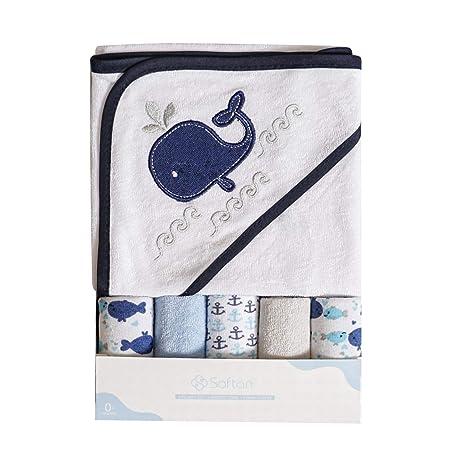 Toalla con capucha de bebé, conjunto de toallas, patrón de bordado animal lindo,. Pasa ...