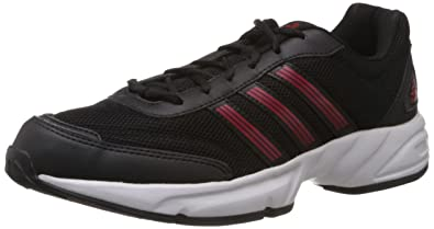 adidas uomini alcor m, nero, bianco e rosso delle scarpe da corsa 7 regno unito