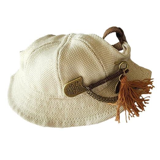Amazon.com   MonkeyJack Braided Pet Hat Dog Cat Puppy Visor Cap Outdoor  Walking Training Sun-shading Bucket Caps with Flowers and Tassels 8caeb5e3d6c0