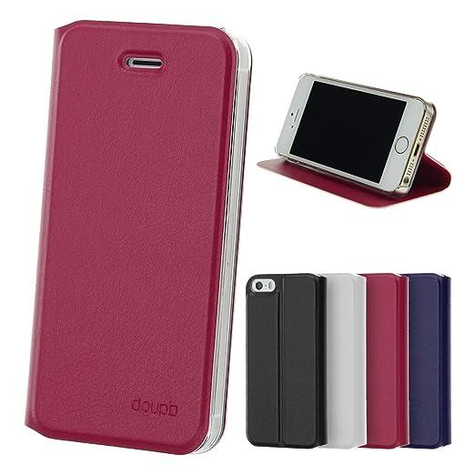 43 opinioni per doupi® Deluxe Flipcover per Apple iPhone 5 5S iPhone SE ( red pink ) della