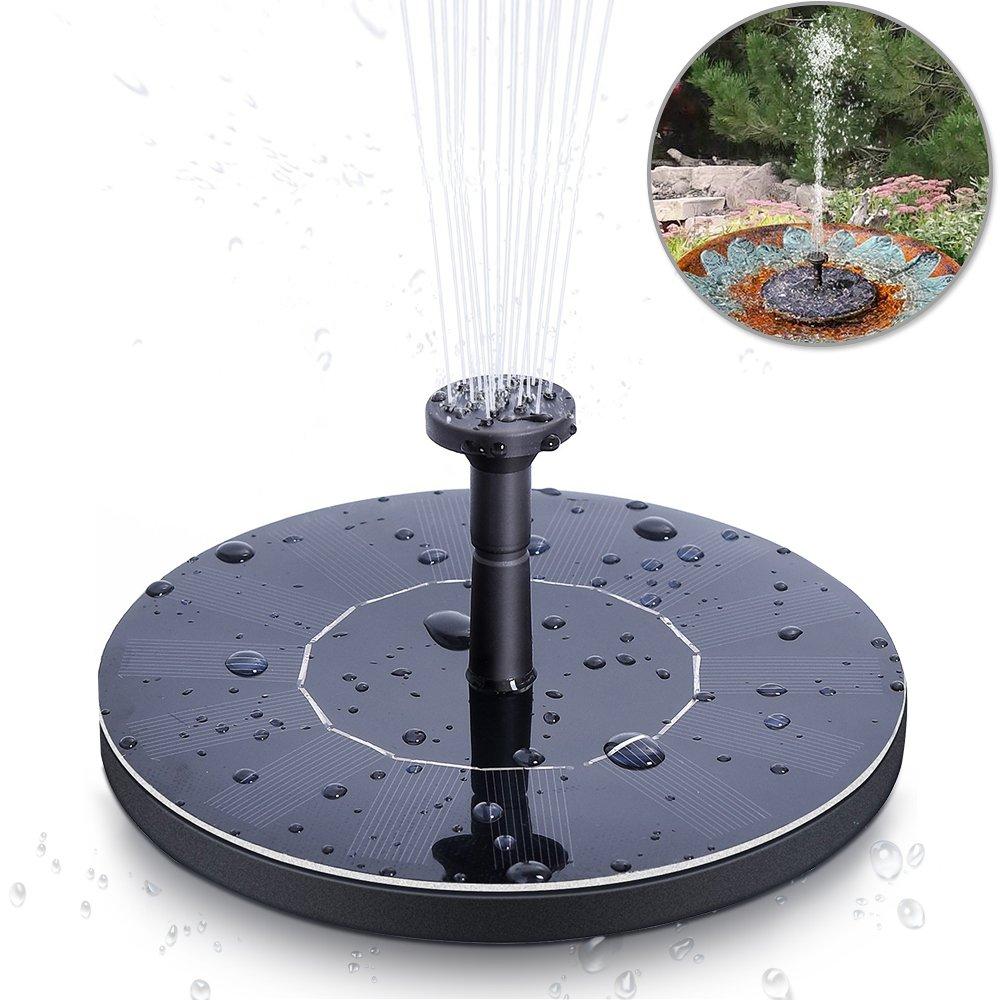 Fontaine Solaire , Solawill Pompe à Eau Solaire 7V /1.4W Panneau Solaire Kit Pompe à eau Mini Pompe à eau de jardin pour la cour Petit étang Réservoir de Poissons