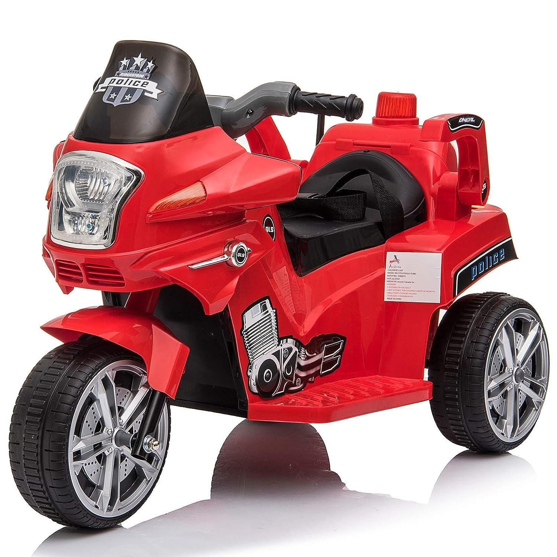 A/ños con Luces y M/úsica 87x41x54cm Carga 35kg HOMCOM Moto El/éctrica Infantil Coche Triciclo Moto Juguete para Ni/ños 3
