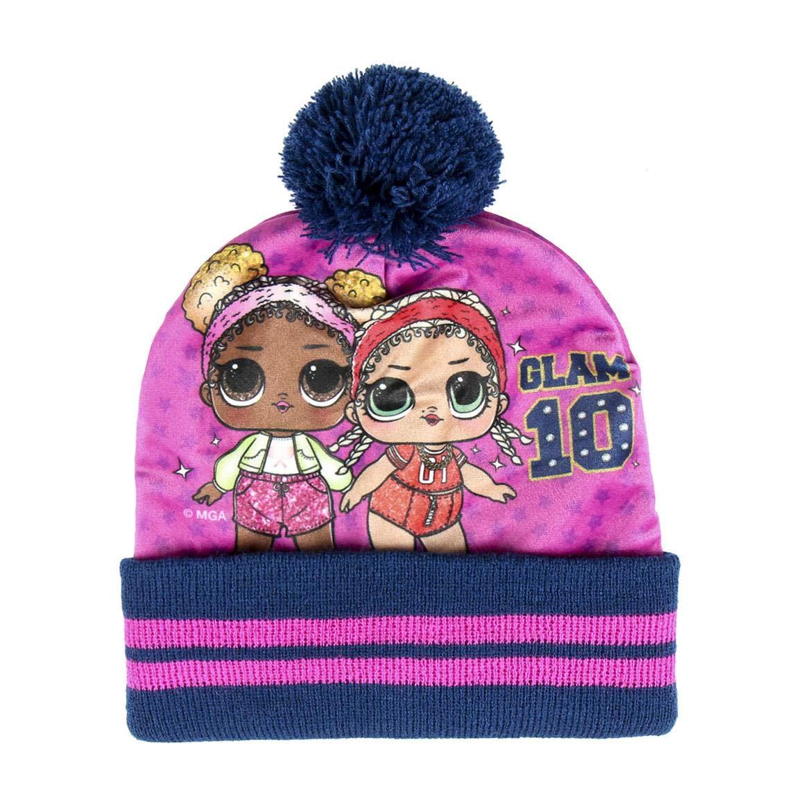 Hat /& Glove Set Rojo 05 Red One Size ARTESANIA CERDA Girls Conjunto 3 Piezas Lol Scarf