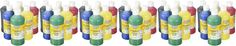 Handy Art Little Masters Tempera Paints Set, 16 oz, Pack of 6: Home & Kitchen