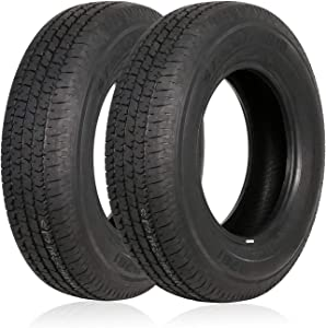 Weize ST205/75R15 Radial Trailer Tire, 8-Ply Load Range D, Set Of 2