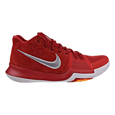 fd9ce9629260 Image Unavailable. Image not available for. Color  Nike Kyrie 3 basketball shoes  kyrie irving mens university red grey white ...