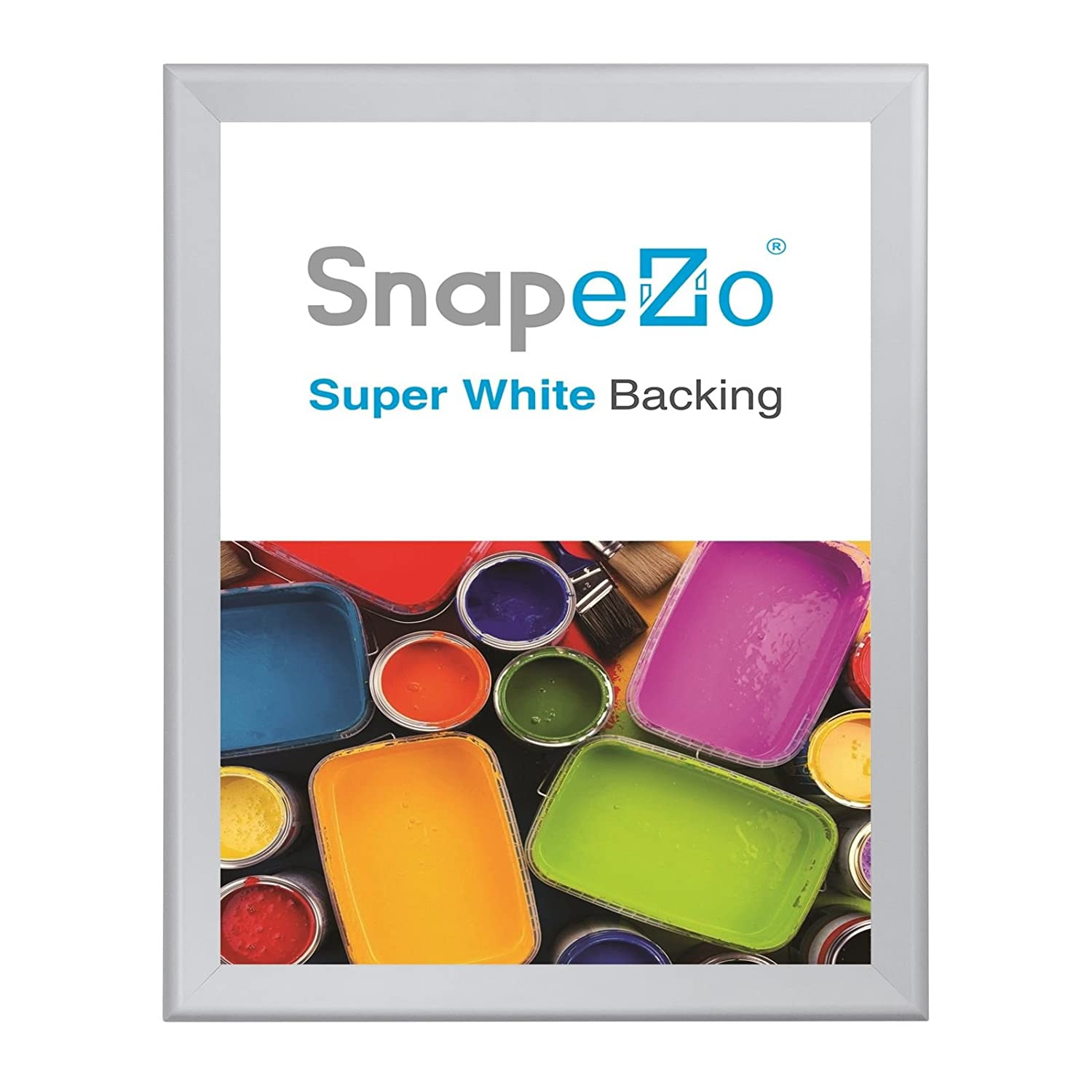 SnapeZo Poster Frame A0 Size (33.1 x 46.8 inches), Silver 1.7