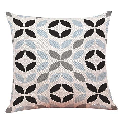 Fundas De Cojines, ❤️Xinantime Decoración del hogar Fundas de colchón Funda de almohada geométrica simple 45cm x 45cm (❤️F)