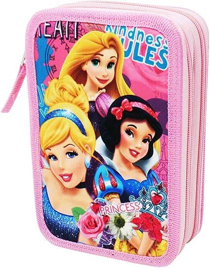 Estuche Disney Princesas para La Escuela Gran Capacidad 44 Piezas: Amazon.es: Oficina y papelería
