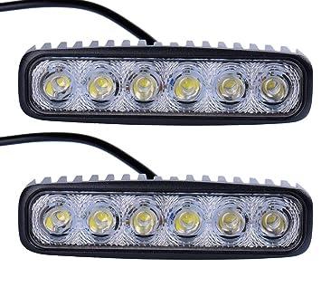 ALPHA DIMA 10X LED Arbeitsscheinwerfer 72W Zusatzscheinwerfer IP67 Wasserdicht Offroad Scheinwerfer 12V 24V Auto Arbeitslicht