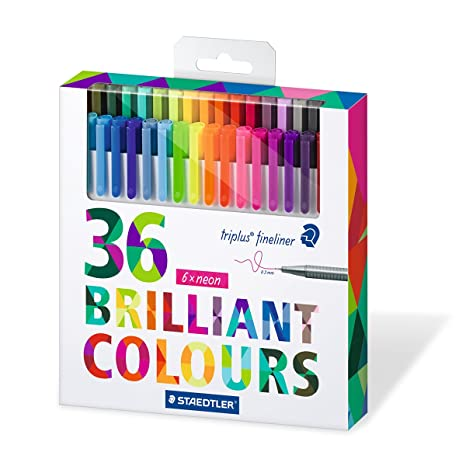 Staedtler Color Pen Set, Set of 36 Assorted Colors (Triplus