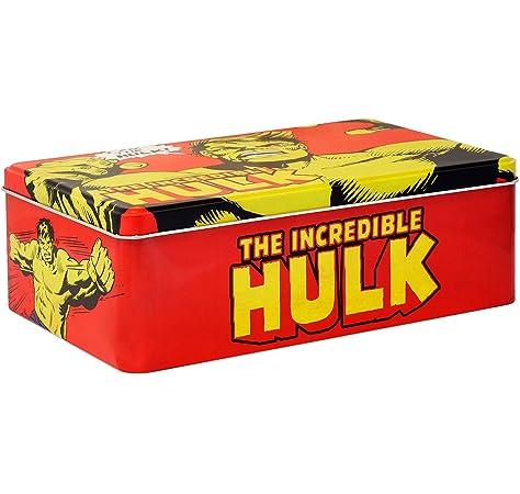 Logoshirt Caja Hulk - Lata de Metal Marvel Comics - The Incredible Hulk - Coloreado - Diseño Original con Licencia: Amazon.es: Juguetes y juegos