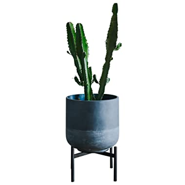 Plant Stand for Indoor & Outdoor Pots - Black, Metal Potted Plant Holder for House, Garden & Patio - Mid-Century Patented Design - Low, By Thorne & Co.