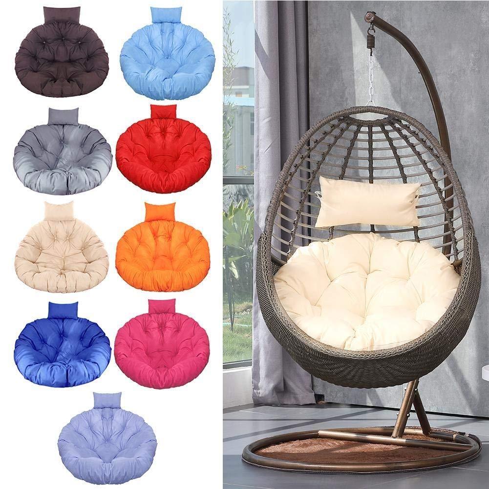 ZYN Swing hängande korg sittdyna tjock hängande stol dyna för hem vardagsrum hängande sängar gungstol säten varm rosa BLÅ