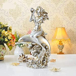 MFHDK Statues Sculptue Sculptures,Abstract Art, Unique Decoration Statue CraftsDecorative Object for Home,Art,Collection Office,Statues Ornaments Garden and Dolphin Statue Resin Statue Guest