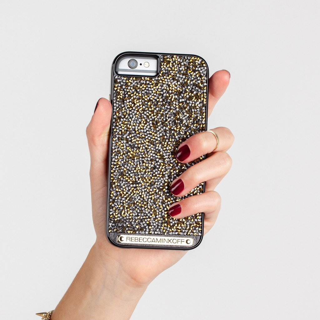 56c0beeead Amazon | 【日本正規品】 REBECCA MINKOFF × Case-Mate Gold Brilliance Case Black  Gloss Gold Crystals iPhone6s iPhone6 レベッカミンコフ ゴールド ブリリアンス ...