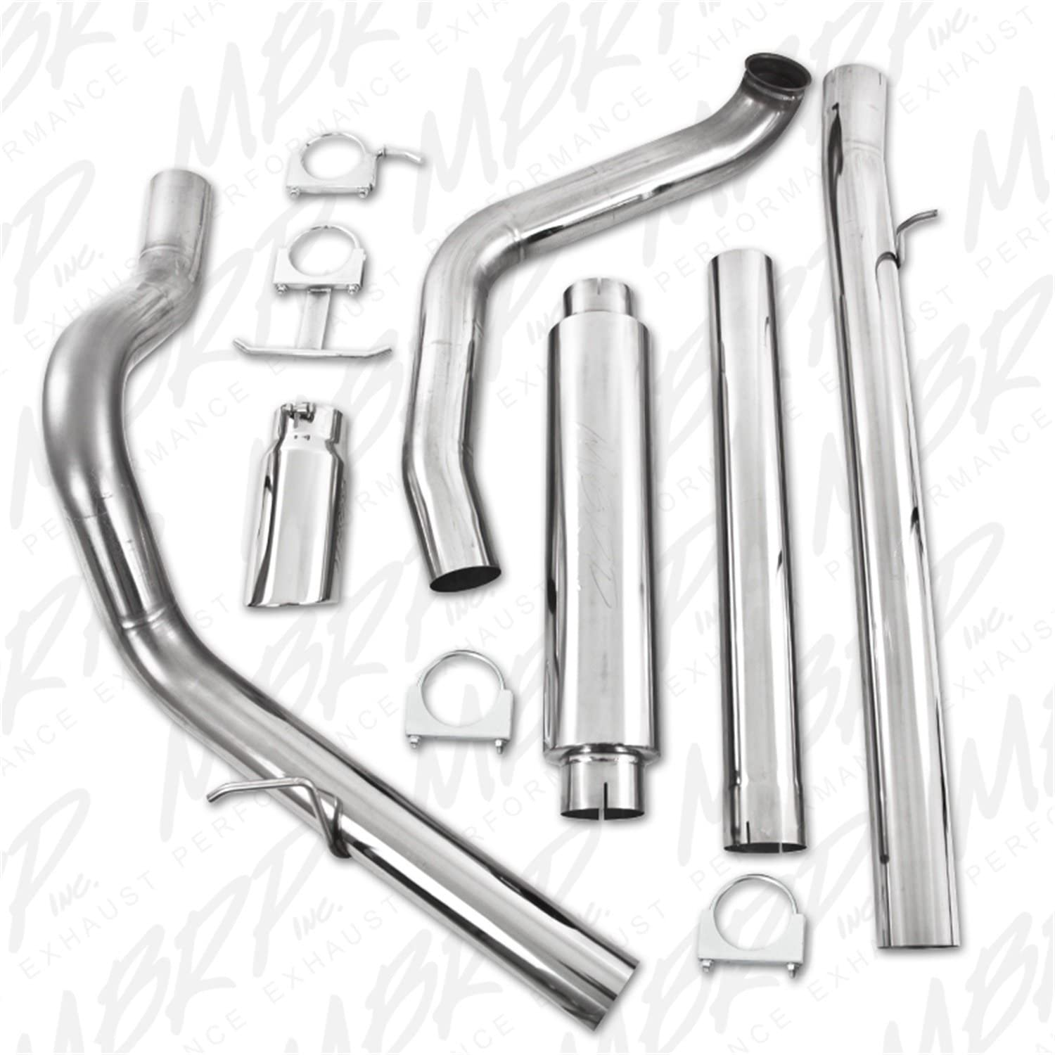 MBRP S6200409 T409 Stainless Steel Turbo Back Single Side Exit Exhaust System