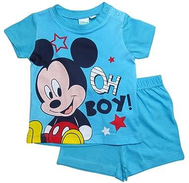 Mickey Mouse - Pijama entero - para bebé niño azul claro 74 cm