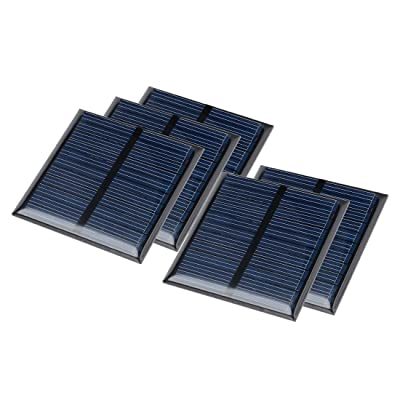 uxcell 5Pcs 5.5V 60mA Poly Mini Solar Cell Panel Module DIY for Light Toys Charger 60mm x 60mm: Automotive [5Bkhe0403336]