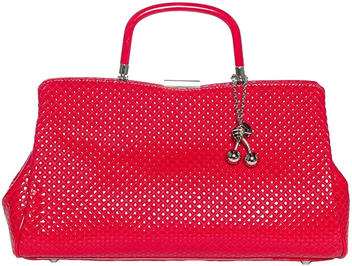 1950s Handbags, Purses, and Evening Bag Styles Sourpuss Clothing Cherry Bomb Purse Red $64.95 AT vintagedancer.com