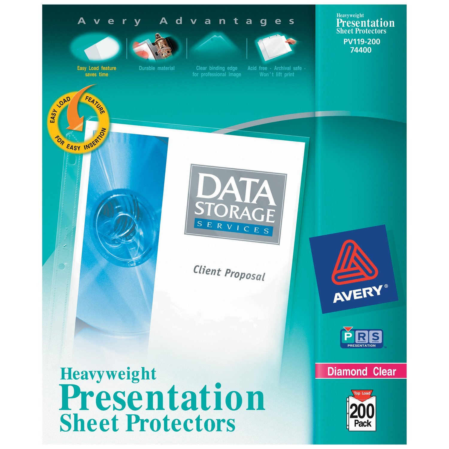 Avery Heavyweight Diamond Clear Sheet Protectors, Acid-Free, 200ct