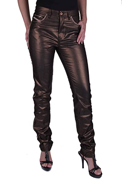 san francisco 20c68 3ad88 Diesel Donna Oro Nero Jeans Kycut 00AXC #7: Amazon.it ...