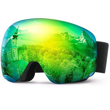 Elegear Gafas Snowboard Gafas Esquí - Gafas Deportivas ski polarizadas Hombre y Mujer Lente Entero sin