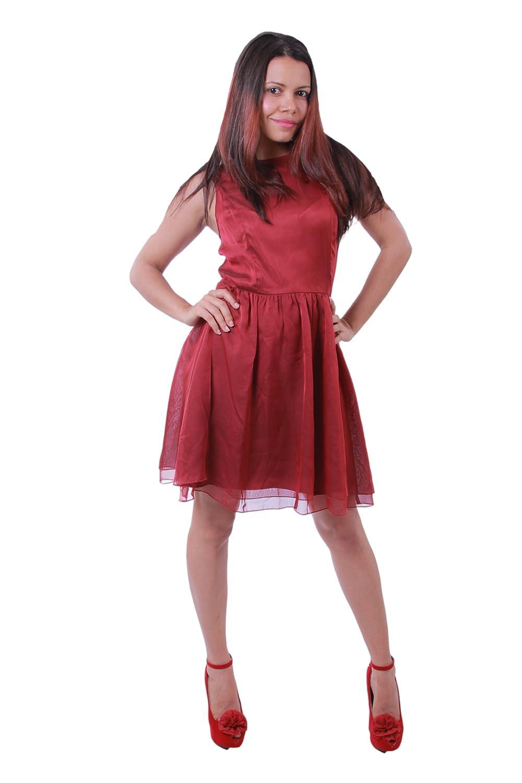 Kensie Women's A-Line Flowy Layered Sleeveless Dress