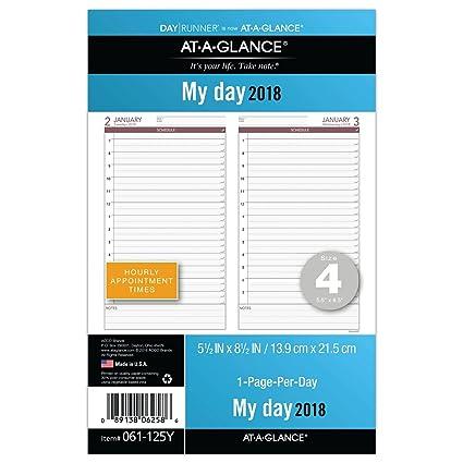 AT-A-GLANCE día Runner Un Día por Página recarga, enero de ...
