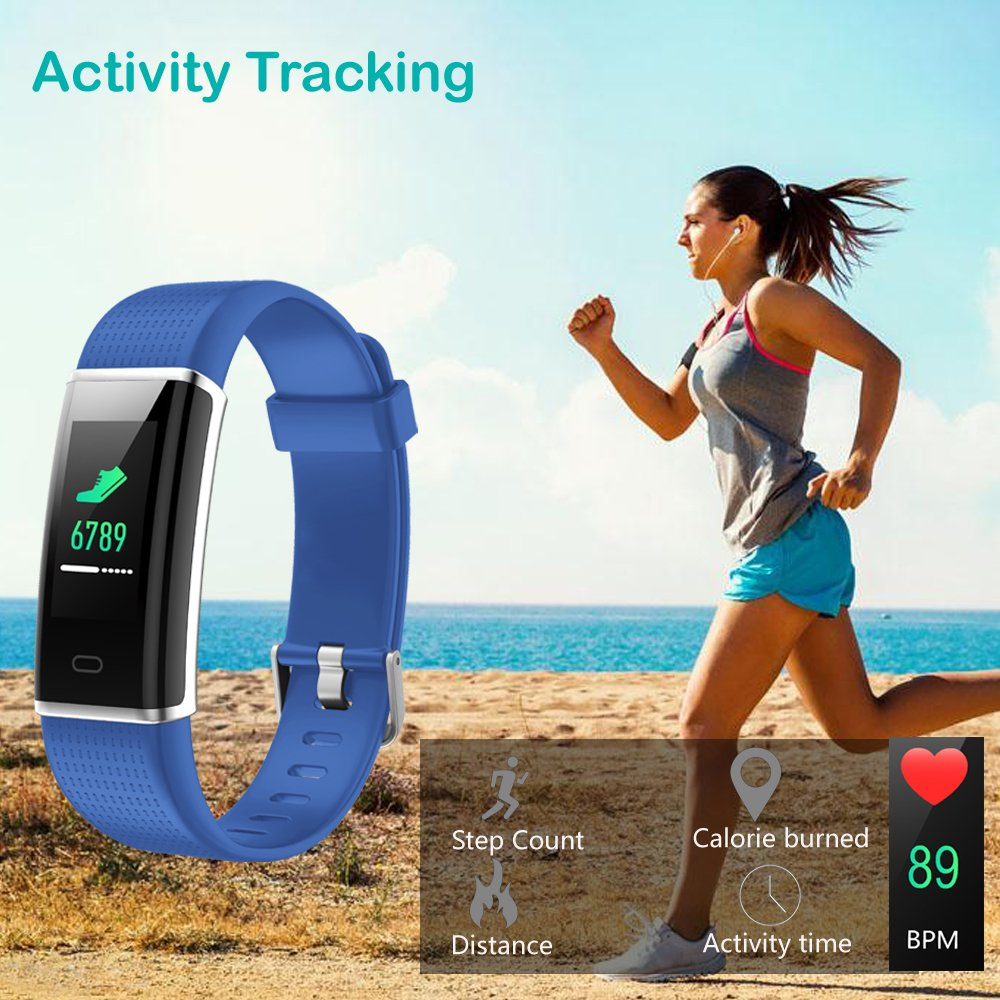 Willful Fitness Tracker, Heart Rate Monitor Fitness Watch Activity Tracker(14 Modes) Pedometer with Step Counter Sleep Monitor Call SMS SNS Notice for Women Men Kids (Color Screen,IP68 Waterproof) by Willful (Image #4)