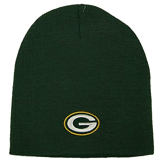 Reebok NFL Green Bay Packers Official Winter Knit Beanie Skully Hat Cap f69726106a8