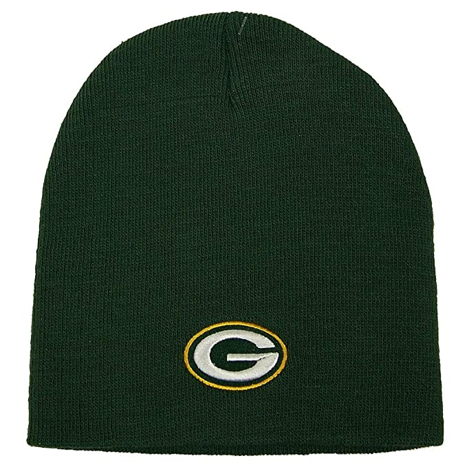 689962fab79 Amazon.com   Reebok NFL Green Bay Packers Official Winter Knit Beanie  Skully Hat Cap   Cold Weather Hats   Sports   Outdoors