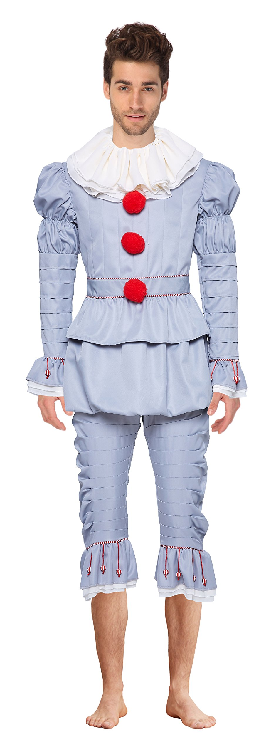 Quintion Anneao Women's Halloween Clown Cosplay Costumes Pennywise Costplay Outfit, L