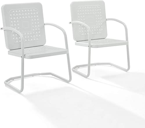 Crosley Furniture Bates Patio Chair in White 1 chair only