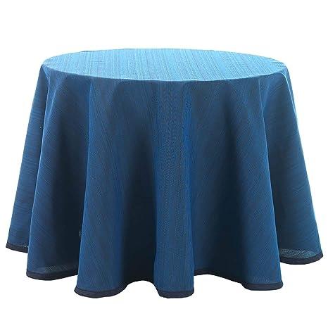 Falda para Mesa Camilla Redonda Modelo Darsena, Color Azul, Medida ...
