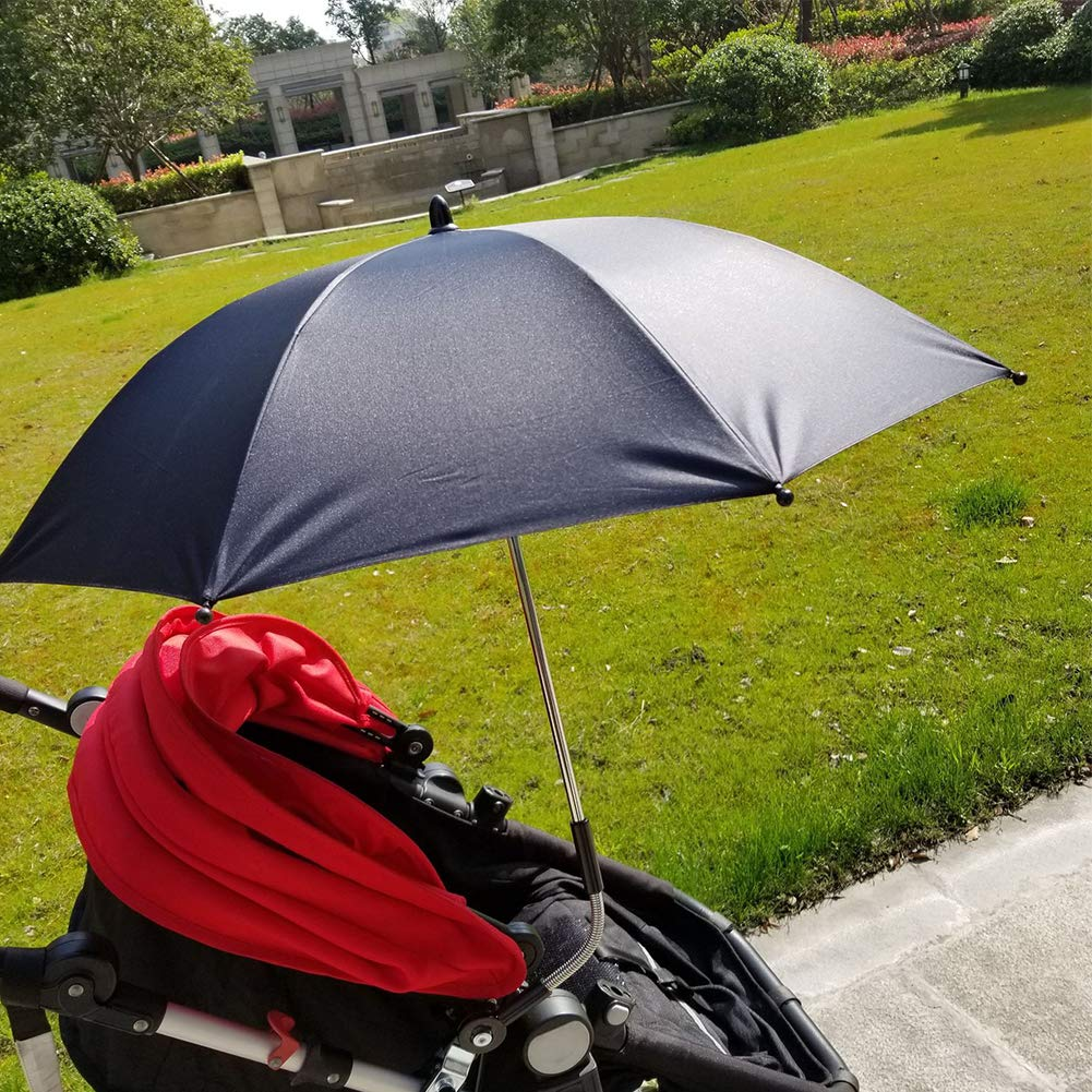SOXDirect Baby Stroller Umbrella Sun Shade Parasol UV Protection Detachable with Universal Adjustable Clamp for Pushchair//Bicycle//Wheelchair