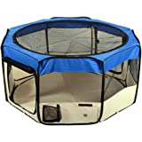 "Jespet 45"" & 61"" Foldable Portable Dog/Cat/Rabbit/Puppy Pet Playpen Exercise Pen Kennel 600D Oxford Cloth with Carry Bag"