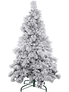 evergreen holiday dcor 6ft flocked artificial christmas tree unlit 6 flocked snow tree
