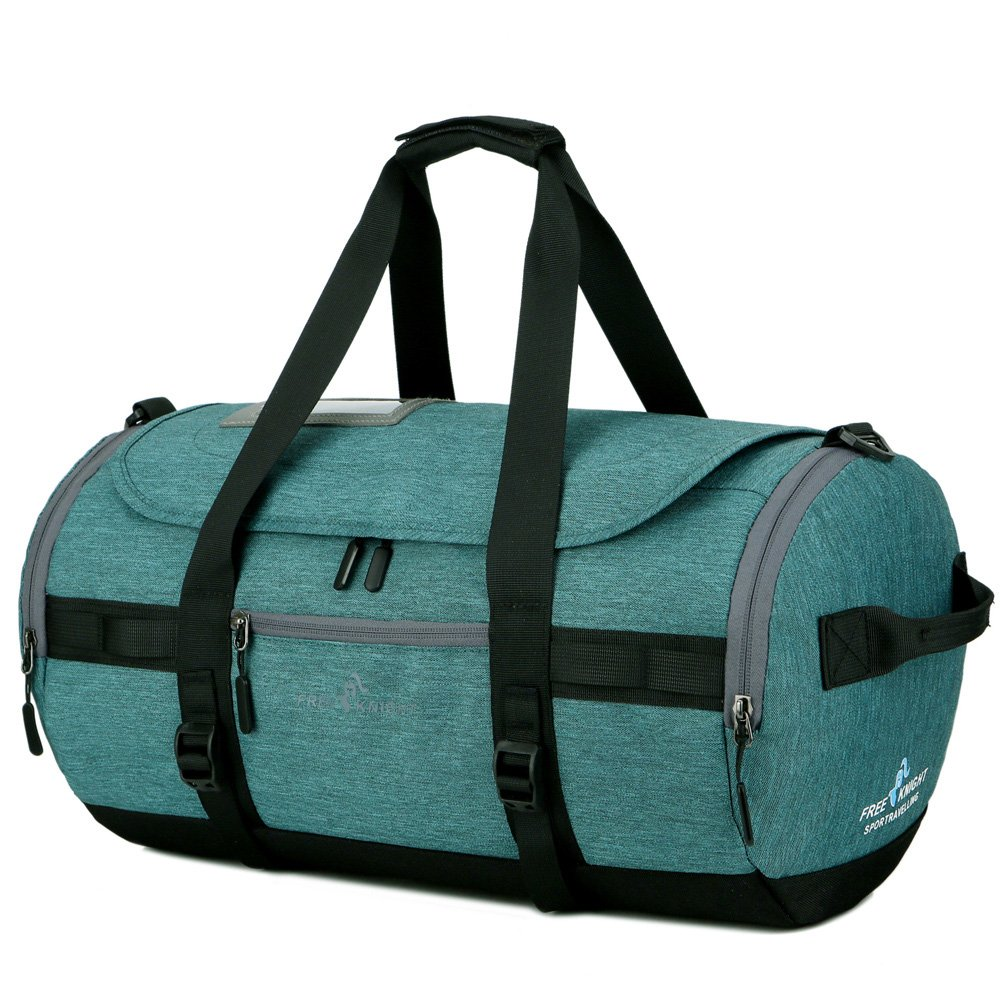 Waterproof Sports Gym Bag, Travel Duffel Bag with Shoes Compartment for Men and Women