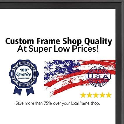 Amazon.com - Poster Palooza 20x40 Lacquer Black Wood Shadow Box ...