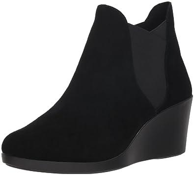 51e20d90b Amazon.com  Crocs Women s Leigh Wedge Chelsea Boot  Shoes