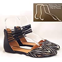 New Clear Acrylic Shoe Retail Shop Display Sandal Stand Flexible Shaper in pair