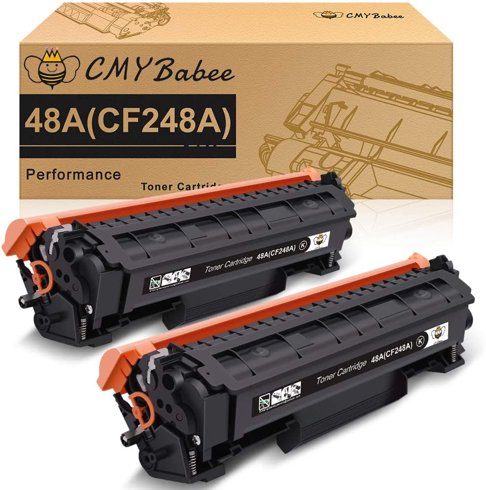 CMYBabee Compatible Toner Cartridge Replacement for HP 48A CF248A for HP Laserjet Pro M15a M15w M16a M16w MFP M29a MFP M29w MFP M28a MFP M28w Printer (Black, 2 Pack)
