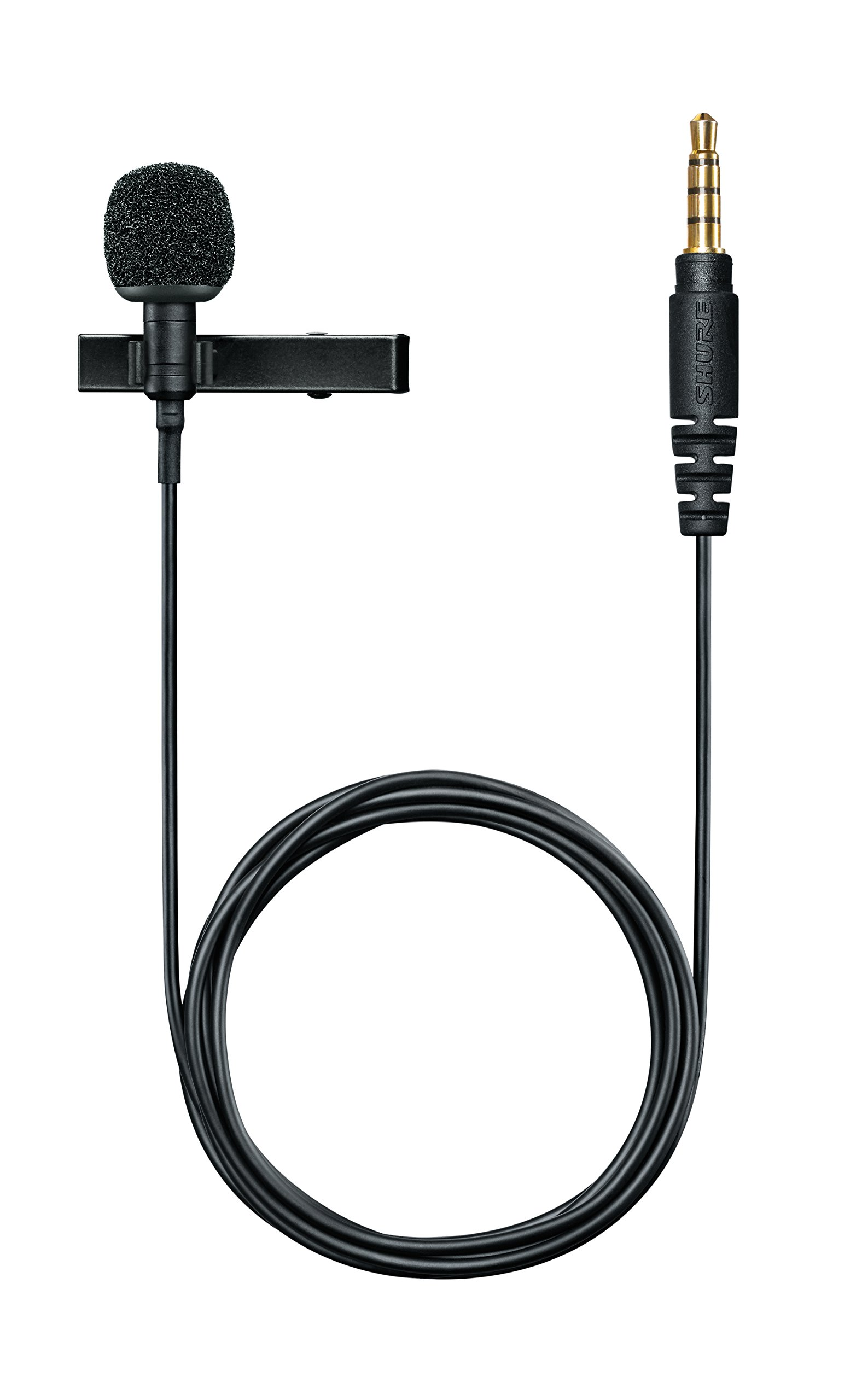 Shure MVL Omnidirectional Condenser Lavalier Microphone [1/8'' (3.5mm)] + Windscreen, Tie-Clip, Mount and Carrying Pouch by Shure
