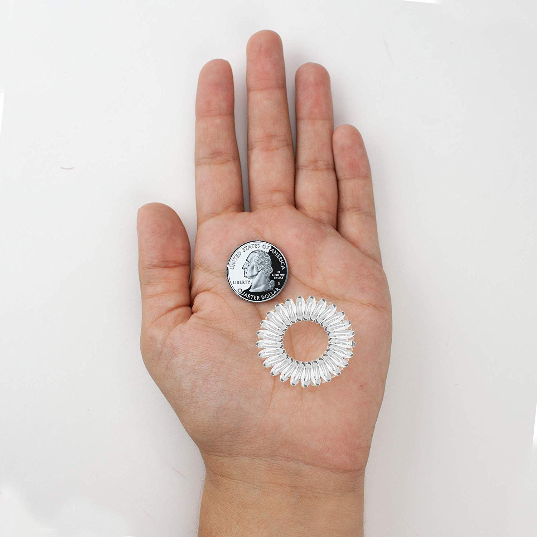 Kitsch Spiral Hair Ties, Coil Hair Ties, Phone Cord Hair Ties, Hair Coils - 8 Pcs, Transparent : Beauty