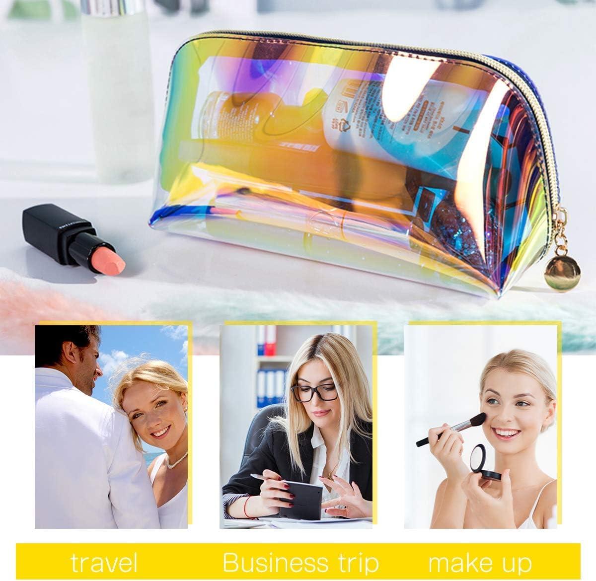 Ecole Sac de Rangement pour Bureau Homealexa 2PCS Trousse de Maquillage Transparente Grande Capacit/é Bo/îte de Maquillage Papeterie Trousse /à Crayons