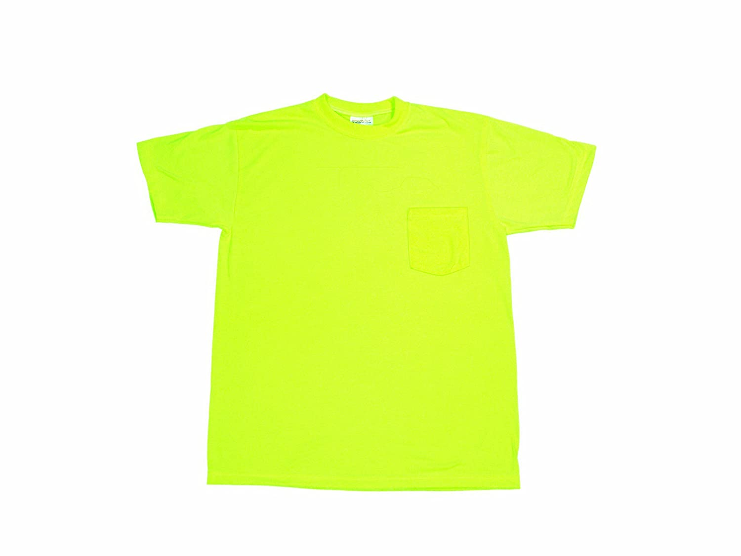 Lime Mutual Industries Inc Mutual 16355 High Visibility Polyester Plain Safety Tee Shirt 2X-Large 16355-1-5